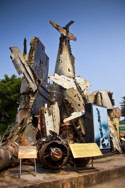 VN02203 Shot down planes sculpture, Vietnam Military History Museum, Ba Dinh district, Hanoi, Vietnam