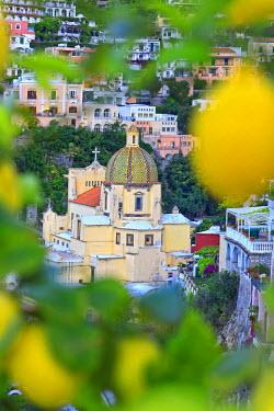 ITA1575AW Italy, Campania, Salerno district, Peninsula of Sorrento, Positano. Santa Maria Assunta church.