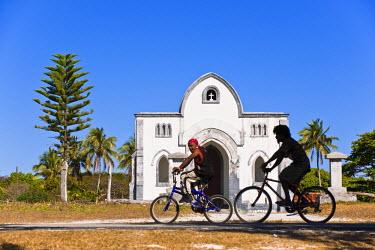 HMS360432 New Caledonia, Loyalty Islands, Ouvea island, Fayaoue, the prostestant church