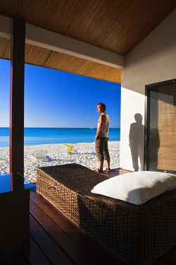 HMS360443 New Caledonia, Loyalty Islands, Ouvea island, Le Paradis d'Ouvea is a luxury hotel