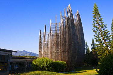 HMS357325 New Caledonia, Noumea, Tjibaou Cultural Center, concept by the architect Renzo Piano