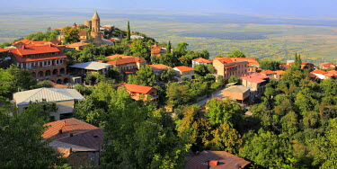 GG01063 View of Alazani Valley, Sighnaghi, Kakheti, Georgia
