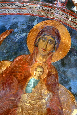 GG01087 Mural painting (14th century), Church in Zarzma Monastery of Transfiguration, Samtskhe-Javakheti, Georgia
