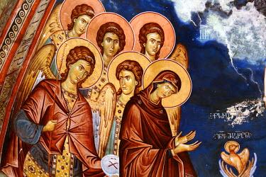 GG01095 Mural painting (14th century), St. George's Monastery church, Ubisi, Imereti, Georgia