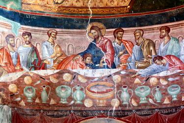 GG01097 Mural painting (14th century), St. George's Monastery church, Ubisi, Imereti, Georgia