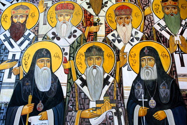 GG01110 Mural painting, Monastery, Martvili, Samegrelo-Zemo Svaneti, Georgia