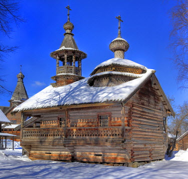 RU04503 Chapel from Kashira, Museum of wooden architecture Vitoslavlicy, Veliky Novgorod, Novgorod region, Russia