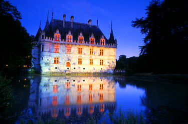 HMS189139 France, Indre et Loire, Loire Valley listed as World Heritage by UNESCO, Chateau d' Azay le Rideau