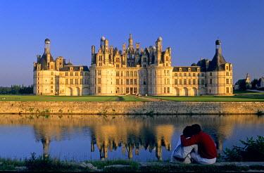 HMS198504 France, Loir et Cher, Loire Valley, listed as World Heritage by UNESCO, chateau de Chambord