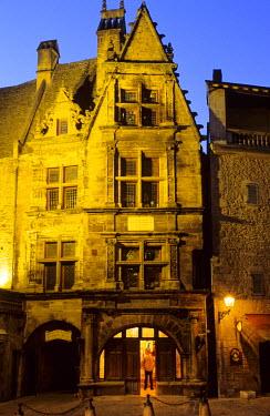 HMS193816 France, Dordogne, Perigord Noir, Sarlat la Caneda, Hotel de La Boetie, 16th century mansion house