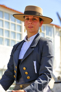 POR6987AW Traditional horsewoman costume from Ribatejo. Portugal