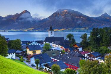 AU04228 St. Wolfgang, Wolfgangsee lake, Flachgau, Upper Austria, Austria