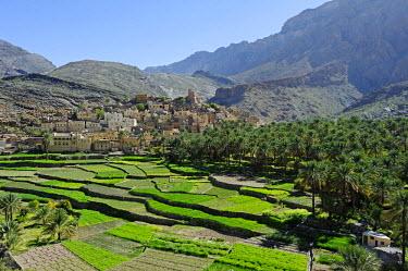 OMA2396 Oman, Dakhiliyah Governate, Jebel Hajar, Balad Sayt (aka Bilad Sayt). The ancient and remote village of Balad Sayt lies deep in the Jebel Hajar.
