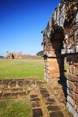 PAR0002AW Ruins of Jesuit mission at Trinidad (UNESCO World Heritage Site), Itapau, Paraguay