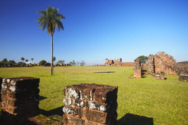PAR0003AW Ruins of Jesuit mission at Trinidad (UNESCO World Heritage Site), Itapau, Paraguay
