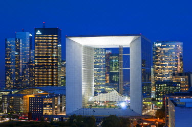 HMS362038 France, Paris, Grande Arche de la Defense by architect Otto von Spreckelsen