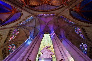 HMS388022 France, Oise, Beauvais, St Pierre Cathedral, Ambulatory Vault