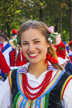 TPX34575 Poland, Girl in Traditional Polish National Costume
