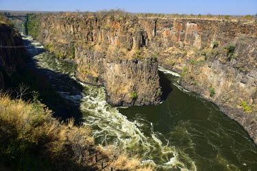ZIM2524AW Canyon near Victoria Falls, Zambezi River, Zimbabwe, Africa