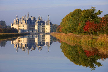 HMS534552 France, Loir et Cher, Loire Valley listed as World Heritage by UNESCO, Chateau de Chambord