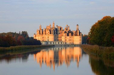 HMS534555 France, Loir et Cher, Loire Valley listed as World Heritage by UNESCO, Chateau de Chambord