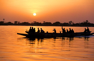 HMS003723 Senegal, Sine Saloum region, Saloum delta, listed as World Heritage by UNESCO, fisherman on Saloum river