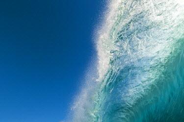 AR4556600008 Blackrock, Rarotonga, Cook Islands. Pitching Lip Of A Breaking Wave, Rarotonga, Cook Islands.