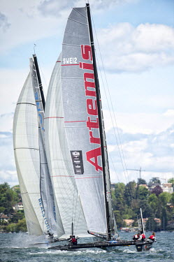 Geneva, Geneva, Switzerland. Vulcain Trophy, Grand Prix Les Ambassadeurs, Geneva, May 6Th 2012. Vulcain Trophy - Artemis Racing Decision 35 - The Fleet Race Of The Grand Prix Les Ambassadeurs, Geneva,...