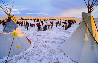 AR4630400005 South Dakota, USA. Lakota Ceremony In The Badlands Near Pine Ridge.