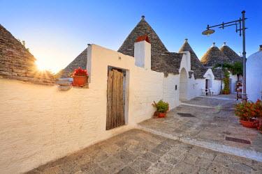 ITA1654AW Italy, Apulia, Bari district, Itria Valley. Alberobello. Trulli (typical houses)