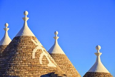 ITA1655AW Italy, Apulia, Bari district, Itria Valley. Alberobello. Trulli (typical houses)