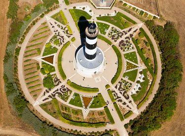 HMS752885 France, Charente Maritime, Saint Denis d'Oleron, Ile d'Oleron, Chassiron lighthouse (aerial view)