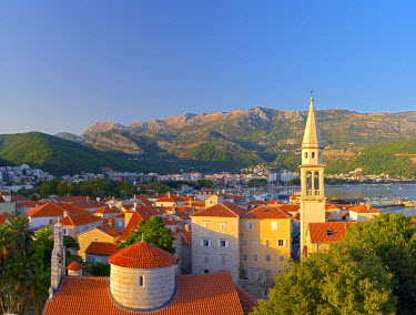 MR01108 Montenegro, Budva, Old Town, Stari Grad, Church of the Holy Trinity, Crkva Sv. Trojice and Sveti Ivan, Church of Saint John