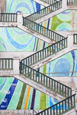 HMS0496932 Algeria, Algiers, stairs next to Emir Abdelkader square