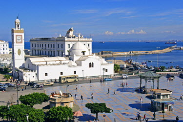 HMS0160794 Algeria, Algiers, place of the Martyrs and Mosque El Djadid
