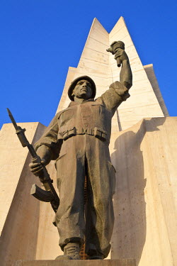 HMS0496908 Algeria, Algiers, El Madania district, concrete Martyr Memorial built in 1982 by Canadian company Lavalin based on model by Alger Fine Arts School directed by Bachir Yell�s for the 20th anniversary of...