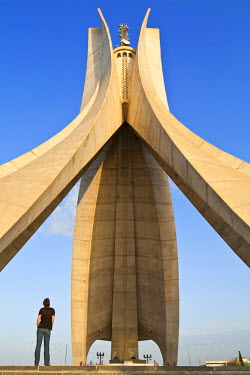HMS0496911 Algeria, Algiers El Madania district, concrete Martyr Memorial built in 1982 by Canadian company Lavalin based on model by Alger Fine Arts School directed by Bachir Yell�s for the 20th anniversary of...