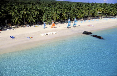 HMS0107262 Republic of Comoros, Great Comoro, Galawa Beach hotel & Casino (aerial view)