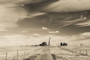 US34055 USA, South Dakota, Stamford, 1880 Town, pioneer village, farm