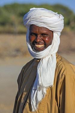 CHA0014 Chad, Kanem, Bahr el Ghazal, Sahel. A Toubou driver from northern Chad.