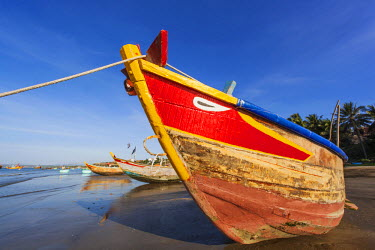 TPX35498 Vietnam, Mui Ne, Mui Ne Beach, Typical Local Fishing Boat