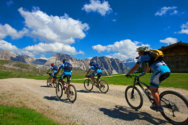 Mountain Biking, Seceda, Val Gardena, Trentino, South Tyrol, Italy