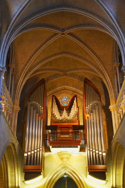 SWI6973AW Organ inside Lausanne Cathedral, Lausanne, Vaud, Switzerland