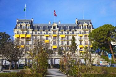 SWI6970AW Beau-Rivage Palace Hotel, Ouchy, Lausanne, Vaud, Switzerland