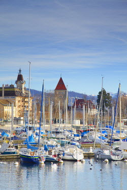 SWI6967AW Ouchy harbour, Lausanne, Vaud, Switzerland