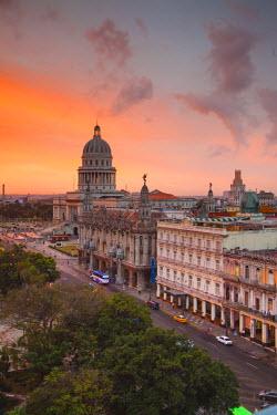 CB01330 Capitolio, Gran Teatro and Inglaterra Hotel, Havana, Cuba
