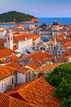 CR01056 Croatia, Dalmatia, Dubrovnik, Old Town (Stari Grad) from Old Town Walls