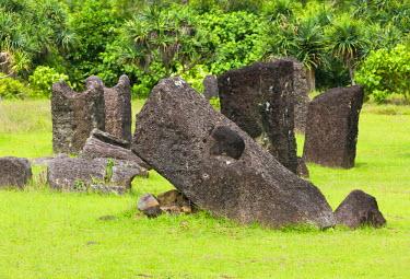 OC16KSU0052 The ancient Badrulchau Stone Monoliths dating back to 161 A.D., Babeldaob Island, Palau, Micronesia, Pacific Ocean