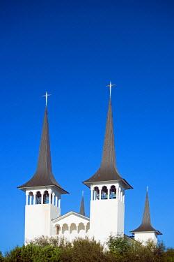 ICE3175 Iceland, Reykjavik, Hateigskirkja church