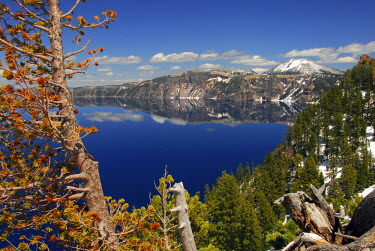 Crater Lake from the Rim, Crater Lake National Park, Oregon, USA